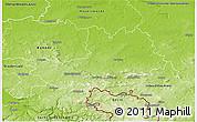 Physical 3D Map of Bautzen