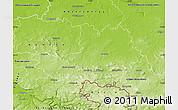 Physical Map of Bautzen