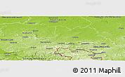 Physical Panoramic Map of Bautzen