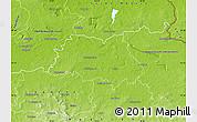 Physical Map of Hoyerswerda