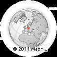 Outline Map of Hoyerswerda