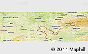 Physical Panoramic Map of Oelsnitz