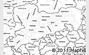 Blank Simple Map of Sachsen