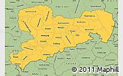 Savanna Style Simple Map of Sachsen