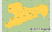 Savanna Style Simple Map of Sachsen, single color outside