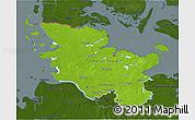 Physical 3D Map of Schleswig-Holstein, darken