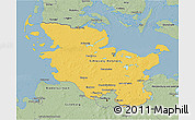Savanna Style 3D Map of Schleswig-Holstein