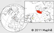 Blank Location Map of Schleswig-Holstein
