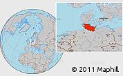 Gray Location Map of Schleswig-Holstein