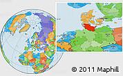 Political Location Map of Schleswig-Holstein