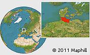 Satellite Location Map of Schleswig-Holstein