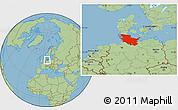 Savanna Style Location Map of Schleswig-Holstein