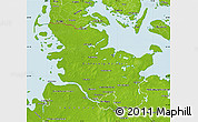 Physical Map of Schleswig-Holstein