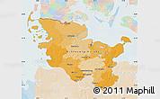 Political Map of Schleswig-Holstein, lighten
