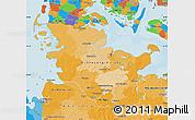 Political Map of Schleswig-Holstein