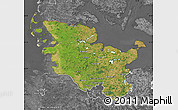 Satellite Map of Schleswig-Holstein, desaturated