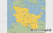 Savanna Style Map of Schleswig-Holstein