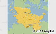 Savanna Style Map of Schleswig-Holstein, single color outside