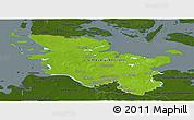 Physical Panoramic Map of Schleswig-Holstein, darken