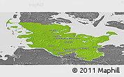 Physical Panoramic Map of Schleswig-Holstein, desaturated