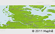Physical Panoramic Map of Schleswig-Holstein