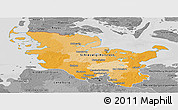 Political Panoramic Map of Schleswig-Holstein, desaturated