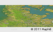 Satellite Panoramic Map of Schleswig-Holstein