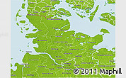 Physical 3D Map of Schleswig-Holstein