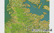 Satellite 3D Map of Schleswig-Holstein