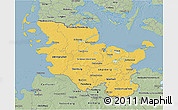 Savanna Style 3D Map of Schleswig-Holstein