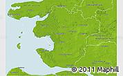 Physical 3D Map of Dithmarschen