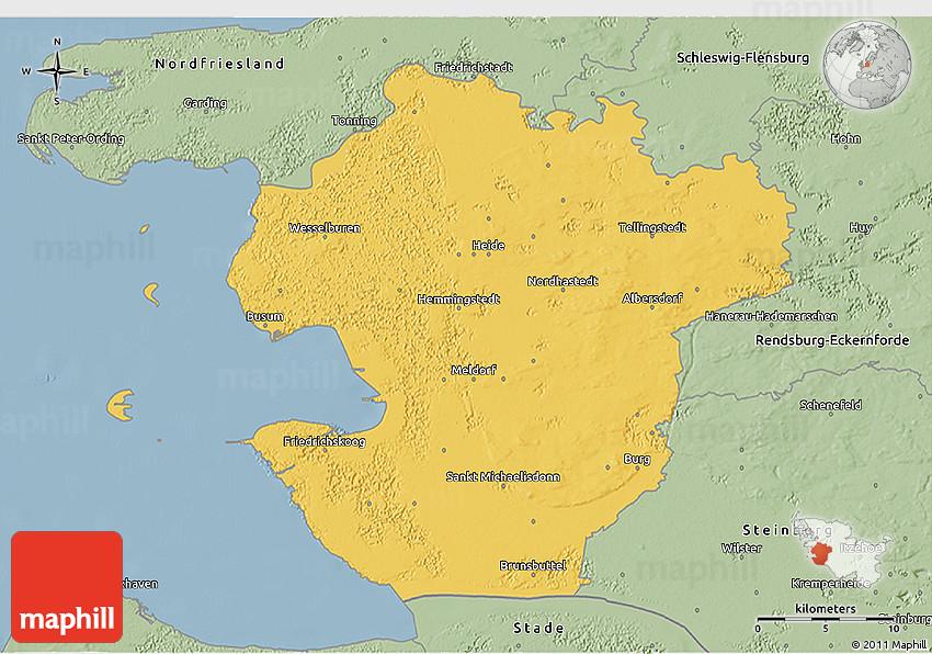 new concept a9cf2 436e2 Savanna Style 3D Map of Dithmarschen