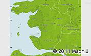 Physical Map of Dithmarschen