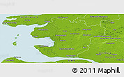 Physical Panoramic Map of Dithmarschen