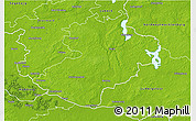 Physical 3D Map of Herzogtum Lauenburg
