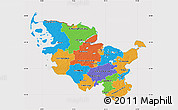 Political Map of Schleswig-Holstein, cropped outside