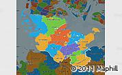 Political Map of Schleswig-Holstein, darken