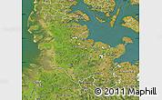 Satellite Map of Schleswig-Holstein
