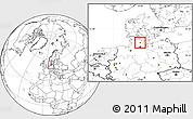 Blank Location Map of Neumünster