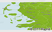 Physical Panoramic Map of Nordfriesland