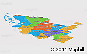 Political Panoramic Map of Schleswig-Holstein, cropped outside