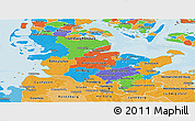 Political Panoramic Map of Schleswig-Holstein, political shades outside