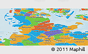 Political Panoramic Map of Schleswig-Holstein