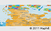 Political Shades Panoramic Map of Schleswig-Holstein