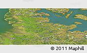 Satellite Panoramic Map of Schleswig-Holstein