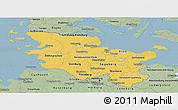 Savanna Style Panoramic Map of Schleswig-Holstein