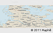 Shaded Relief Panoramic Map of Schleswig-Holstein