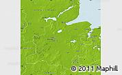 Physical Map of Rendsburg-Eckernförde