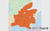 Political Map of Rendsburg-Eckernförde, lighten