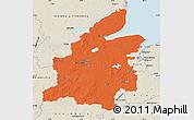 Political Map of Rendsburg-Eckernförde, shaded relief outside